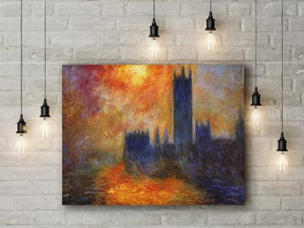 Claude Monet: The Houses of Parliament. Fine Art Canvas.
